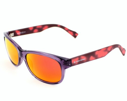 Boss Orange sunglasses BO 0132 /S 1QBUZ Acetate Purple - Red Grey with Petrol mirror - Orange Boss Sunglasses