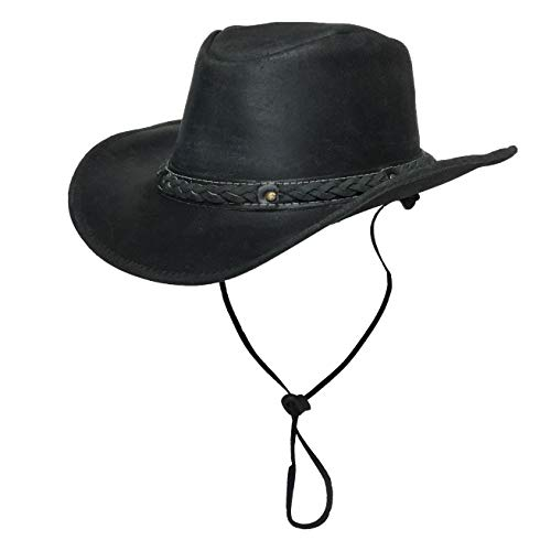 (Bellmora Cowboy Hat Traders Down Under (Distressed Black, Medium))