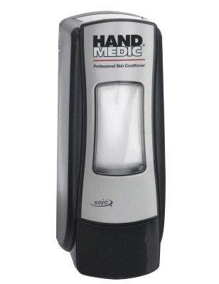 - GOJO 8782-06 Brushed Chrome And Black Hand Medic ADX-7 Skin Conditioner Dispenser (6/EA)
