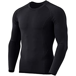 TSLA Men's (Pack of 1, 2) Thermal Wintergear Compression Baselayer Long Sleeve Top