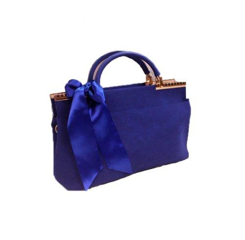Gaorui - Bolso al hombro para mujer Azul