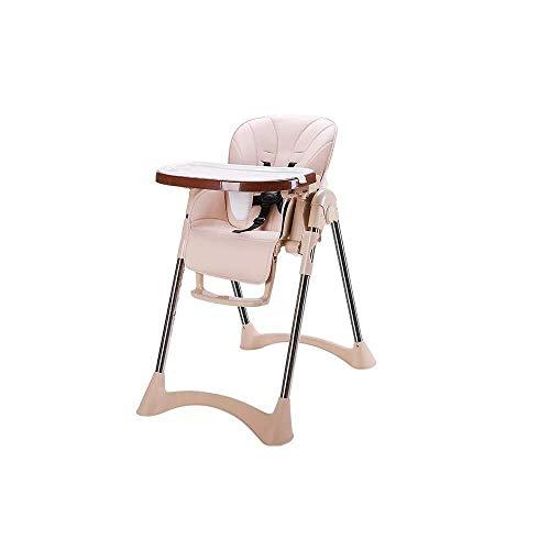 LQBDJPYS - Silla alta para bebe, multifuncion, plegable, para el hogar, mesa de comedor y sillas al aire libre, portatil para aprender a sentarse con doble bandeja