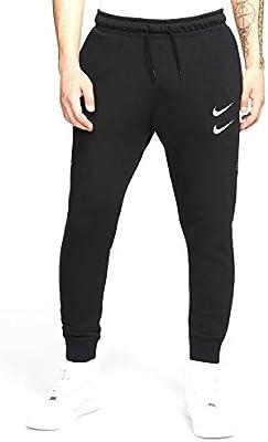 NIKE M NSW Swoosh Pant Ft Sport Trousers, Hombre, Black/(White), L: Amazon.es: Deportes y aire libre