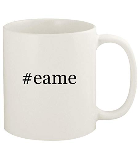 #eame - 11oz Hashtag Ceramic White Coffee Mug Cup, White