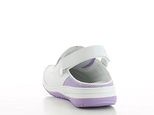 Oxypas Iris, Womens Safety Shoes, Farbe: Schwarz, Größe: 40 EU Weiß (lic)