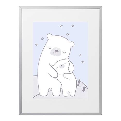 Poster Kinderzimmer,Eisbär, Kinderzimmer Deko Mädchen, Junge ...