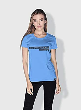 Creo Ice Bank Mice Elf Funny T-Shirts For Women - Xl, Blue