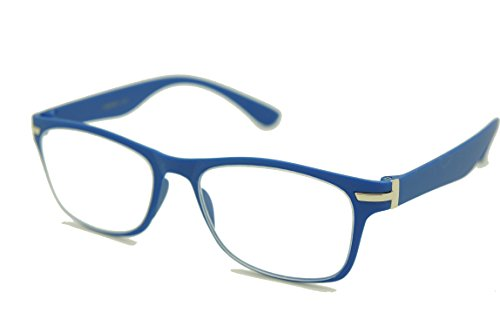ColorViper Flexible Memory Frame reader Unisex lightweight Reading - Blue Framed Glasses
