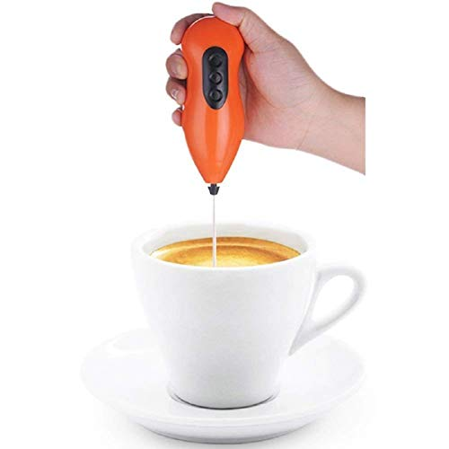 Nohunt Handheld Electric Cappuccino Maker Battery Operated Milk Coffee Cream Frother Handle Egg Beater Handy Mixer Grinder Blender Kitchen Tools and Gadgets Random Color