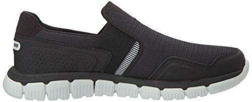 Skechers Sport Mens Flex 2.0 Slip-on Mocassino Nero / Grigio