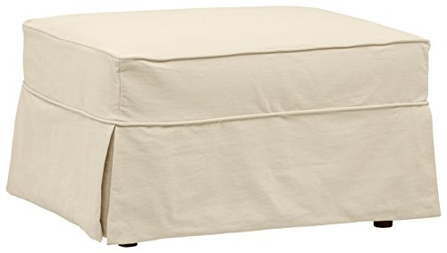 Stone & Beam Carrigan Ottoman with Slipcover, 33
