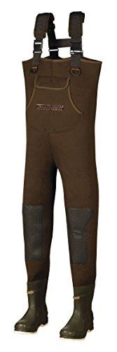Men 3.5mm Brown Neoprene Fishing/Hunting Chest Wader Lug Size 12 Regular Thinsulate Felt Sole (Nylon Chest Wader Neoprene)