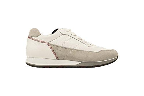 Hogan Sneakers H321 Uomo HXM3210K860IFW137E Scarpa Pelle Bianco Running Uomo Bianco
