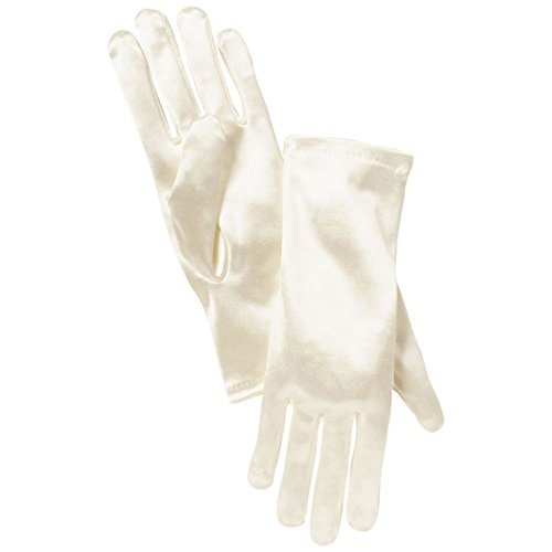 Girls Satin Wrist-Length Gloves Style CATELYNN, Ivory, XS from David's Bridal