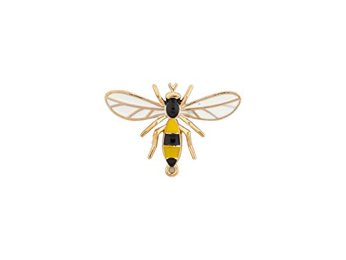 Knighthood Men's Honey Bee Wing Lapel Pin/Brooch Yellow and Black
