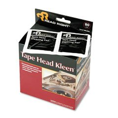 Read Right Tape head premoistened cleaning pads, 80/box RRTRR1301