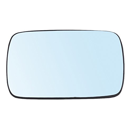 Drivers Power Side View Mirror Blue Tinted Glass w/Base Heated Replacement for BMW 3 Series 5 Series 51168250436 ()