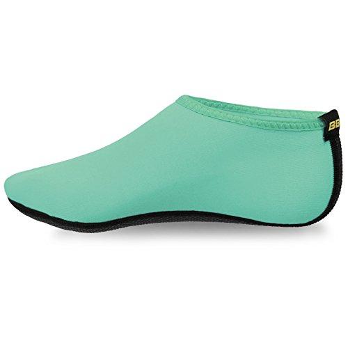 Justonestyle Pieds Nus Peau De Leau Chaussures Aqua Chaussettes Pour La Plage Nagent Surf Yoga Menthe