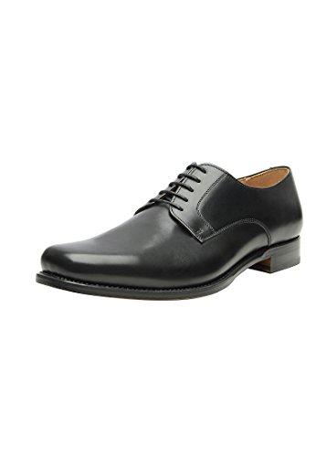 SHOEPASSION No. 520 Plain Derby in Schwarz Exklusiver Business, Freizeit- oder auch Hochzeitsschuh für Herren. Rahmengenäht und handgefertigt aus feinstem Leder. Schwarz