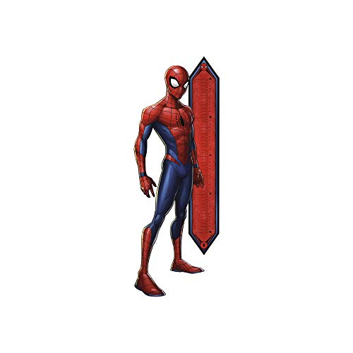 FATHEAD Spider-Man: Growth Chart - Life-Size Officially Licensed Marvel Removable Wall Decal Multicolor