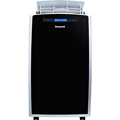 Honeywell Eco-Friendly Quiet Operation 14,000 BTU Portable Indoor Air Conditioner with Built-In Dehumidification and No Bucket, No-Drip Auto-Evaporation System, Digital LCD Display, with Powerful Airflow, Programmable Timer, Full Function Remote and Casto