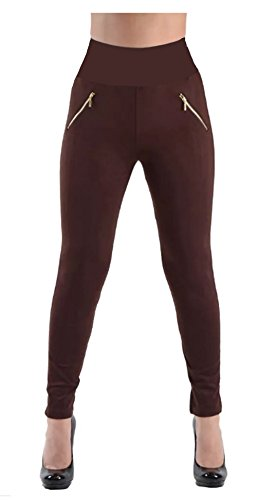Love My Seamless Ladies Missy Fashion One Size Seamless High Waisted Zipper Detail On Sides Fleece Lined Leggings Pants