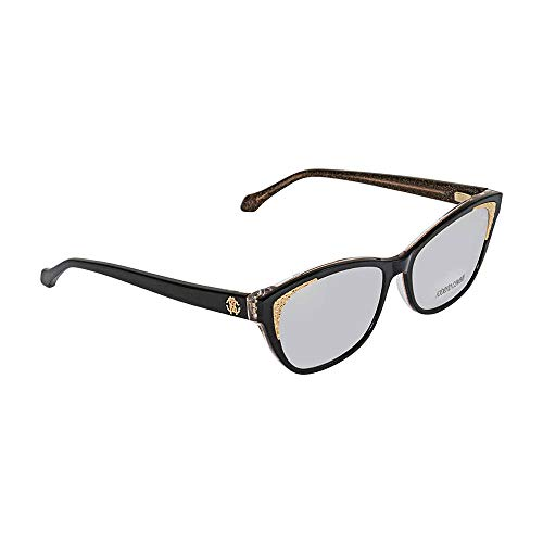 (Roberto Cavalli RC5033 Eyeglass Frames - Shiny Black Frame, 54 mm Lens Diameter RC503354001)