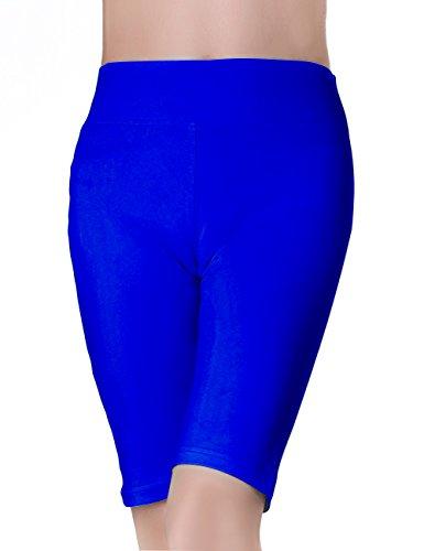 ABUSA Women's YOGA Shorts Sports Leggings Size XL Royal Blue