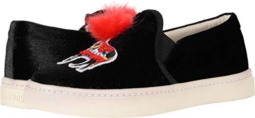 Soludos Women's Velvet Show Pony Sneaker, Black, 7.5 M ()