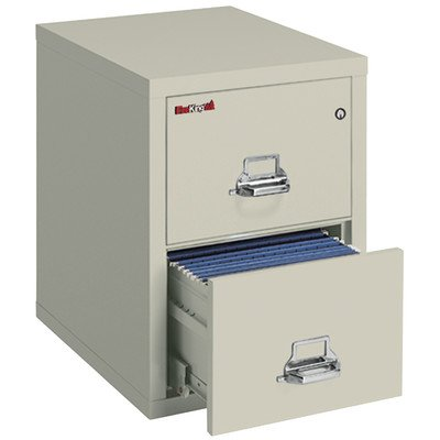 Fireproof 2-Drawer Vertical Legal File Finish: Parchment