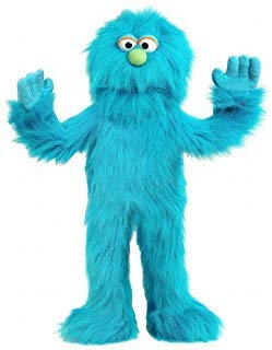 "30"" Blue Monster Puppet, Full Body Ventriloquist Style Puppet"