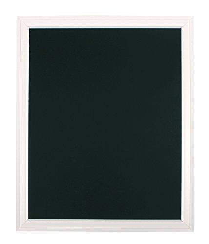 DesignOvation Bosc Wall Mounted Framed Magnetic Chalkboard, 27.5x33.5, White