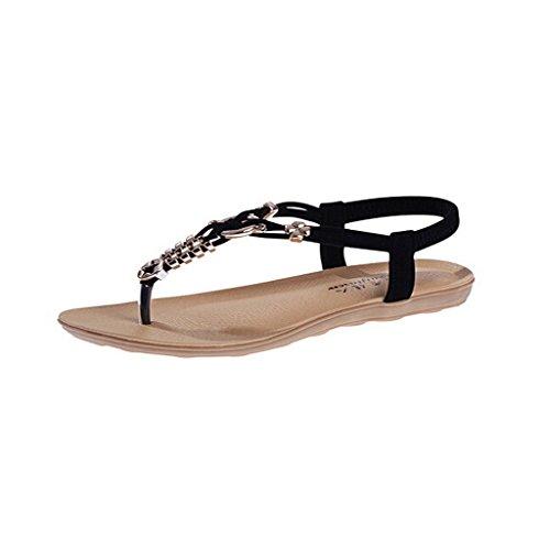 Dear Time Flat With Women Sandals Black kbPSqu