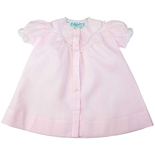 (Feltman Brothers Infant Girl's Daygown with Embroidered Yoke, Pink (NB) )