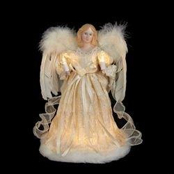 Kurt Adler 10-Light Ivory Angel Treetop, 12-Inch