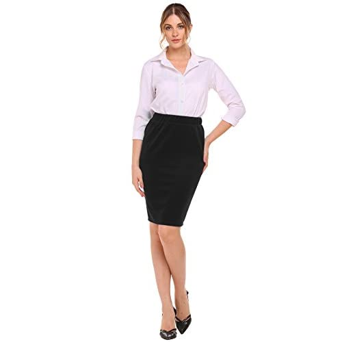 ANGVNS Women's Knee Length Pencil Skirt For Office Wear free shipping