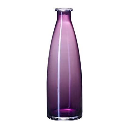 IKEA MILDRA botella LILA; Knubbig de vidrio