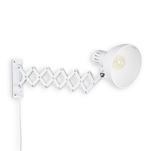 White Swing Arm Wall Lamp - 5