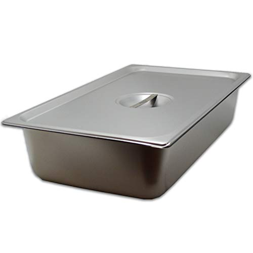 (Steam Table Pan Full Size with Cover, Hotel Pan is 4