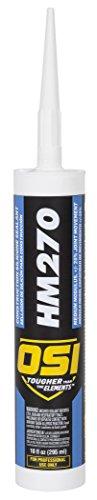 OSI HM270 Clear Silicone Construction Sealant 10-Fluid Ounce Cartridge (1494045)
