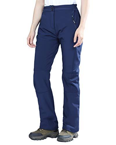 Polar Insulated Pant - Outdoor Ventures Women's Idra Softshell Fleece Lined Insulated Waterproof Hiking Ski Snow Pants Dark Blue