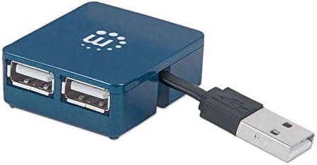 Manhattan Hi Speed Usb 2 0 Micro Hub 4 Ports Blau