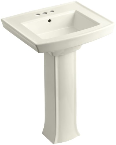 KOHLER K-2359-4-96 Archer Pedestal Bathroom Sink with 4