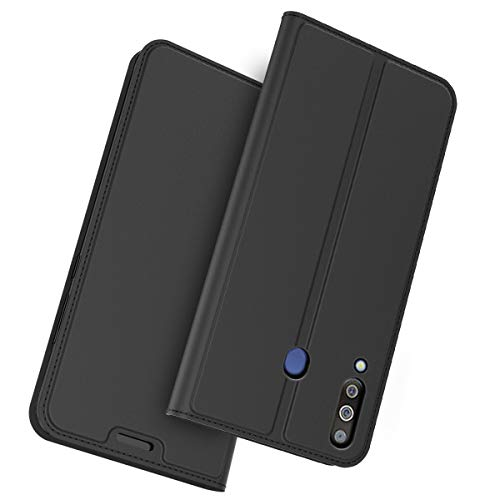 (Totoose Case for Samsung Galaxy M30, Comfortable Wallet Leather Case with Card Holder and Kickstand, Series Durable Protective Case Cover for Samsung Galaxy M30 - Black)