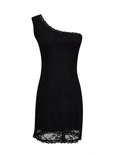 Pinkyee - Vestido - ajustado - para mujer negro