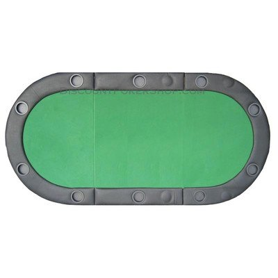 Padded Texas Hold'em Folding Poker Table Top w/ Cup Holders - GREEN by JP Commerce