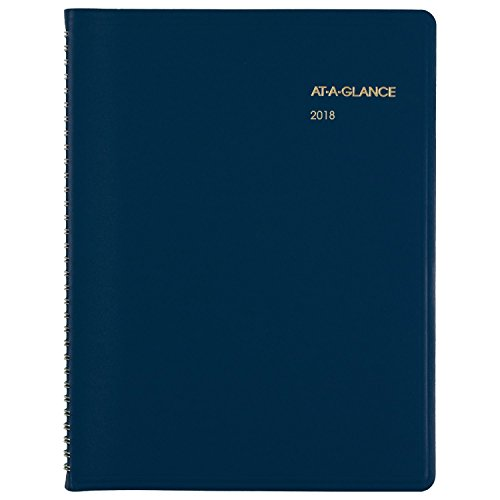 "AT-A-GLANCE Weekly Appointment Book / Planner, January 2018 - December 2018, 8-1/2"" x 10-7/8"", Fashion, Blue (7094020)"