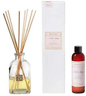 Aromatique THE SMELL OF SPRING Reed Diffuser Gift Set Square Glass Bottle with Medallion ()