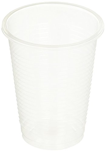 7 Oz. Plastic Clear/Transparent Cups - 200 Count - Bulk Pack (2 Packs of 100)