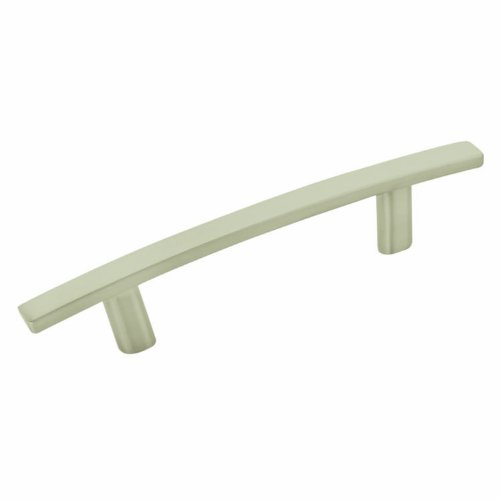 Amerock Cyprus 3 in (76 mm) Center-to-Center Satin Nickel Cabinet Pull - 10 Pack Amerock Cyprus Knob